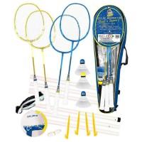 CDTS Ensemble Badminton 4 Raquettes + Ballon Multi-Jeux Taille 5.