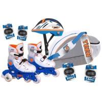 CDTS Roller Enfant Inline avec protection - Réglable du 29 au 33 - Evolutif - Garçon