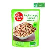 CEREAL BIO Blé, riz rouge et quinoa cuisinés au naturel Bio - 220 g