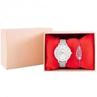 CHARLOTTE RAFFAELLI Coffret Montre Quartz et Bracelet en métal COCRW18004 - Gris clair et argenté