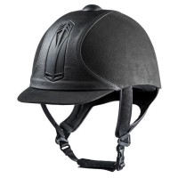 CHOPLIN Casque équitaion premium - gris / noir