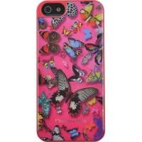 C-LACROIX Coque motif papillon Iphone 5 - Rose