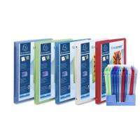 CLAIREFONTAINE - Cahier classeur personnalisable- 21 x 29,7 - 4 anneaux - Polypropylene translucide 5/10eme - 5 couleurs aléatoi