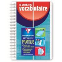 CLAIREFONTAINE - Carnet de vocabulaire KOVERBOOK - 11 x 17 - 100 pages lignées + marge - Couverture polypro translucide