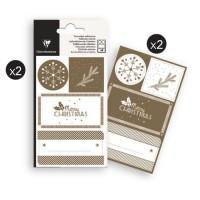 CLAIREFONTAINE 16 étiquettes Noël - Or - 4 planches visuels assortis sous sachet