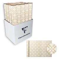 CLAIREFONTAINE Rouleau de papier Cadeau Fleurs - Sous film - 70 g/m² - Blanc