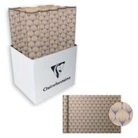 CLAIREFONTAINE Rouleau de papier Cadeau Fleurs - Sous film - 70 g/m² - Bleu