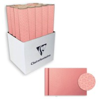 CLAIREFONTAINE Rouleau de papier Cadeau Fleurs - Sous film - 70 g/m² - Rose