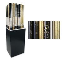 CLAIREFONTAINE Rouleau papier cadeau Premium - 2 x 0,7 m - 80 g / m² - 6 motifs assortis sous film