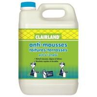 CLAIRLAND Anti-Mousses, algues et lichens sur toitures, terrasses et dallages - Solution prete a l'emploi pour pulvérisateur - 5