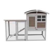 Clapier en bois Home 130x62x91 cm - Pour lapin