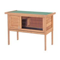 Clapier en bois pour lapin Basile 91,5x45x70 cm - Pour lapin