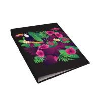 CLEMENTINA FROG Classeur A4 carton - 4 anneaux - Décor toucan
