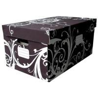 CLEMENTINA FROG Lot de 2 Boîtes carton arabesques