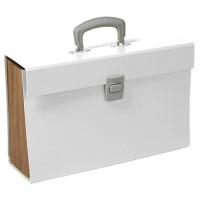 CLEMENTINA FROG Trieur carton - 12 compartiments - Blanc