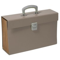 CLEMENTINA FROG Trieur carton - 12 compartiments - Taupe