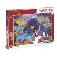CLEMENTONI - Aladdin - Puzzle SuperColor - 104 pieces - 48 x 33 cm