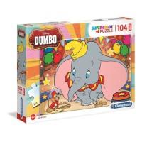 CLEMENTONI - Dumbo - Puzzle maxi - 104 pieces - 68 x 48 cm