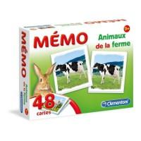 CLEMENTONI Mémo - Les Animaux de la ferme - Jeu de mémorisation