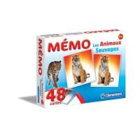CLEMENTONI Mémo - Les Animaux Sauvages - Jeu de mémorisation