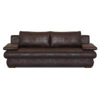 CLYDE Banquette convertible 3 places - Tissu marron vieilli - Style contemporain - L 187 x P 94 cm