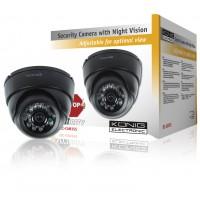 König caméra CCTV dôme avec LED IR