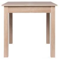 COBURG Table a manger extensible de 4 a 6 personne classique décor chene - L 80-120 x l 80 cm