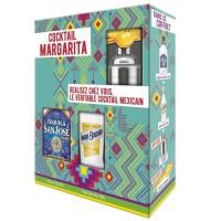 Coffret Cocktail Margarita : San José Tequila 35% 70 cl - Marie Brizard Triple Sec Liqueur 39% 35 cl - Shaker Gradué Presse citr