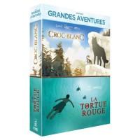 Coffret DVD Grandes Aventures, 2 films : La Tortue Rouge, Croc-Blanc