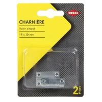 COGEX Charniere métal - 19x30 mm - 2 pcs