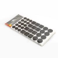 COGEX Patin adhesif feutre marron - Assortiment rond et carré - 10 pcs