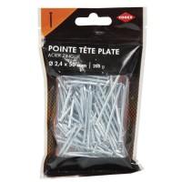 COGEX Pointe a tete plate acier - 2,3x50 mm - 200gr