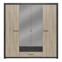 COLORADO Armoire 4 portes - Décor Chene Kronberg - L 198 x H 203,1 x 56,6 cm
