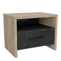 COLORADO Table de chevet 1 tiroir - Décor Chene Kronberg - L 49,6 x P 36,3 x H 40,1 cm