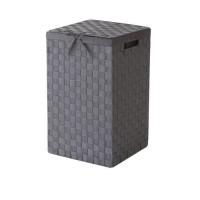 COMPACTOR Coffre a linge gris avec couvercle et tissu coordonne