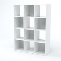 COMPO Meuble de rangement contemporain blanc mat - L 92 cm