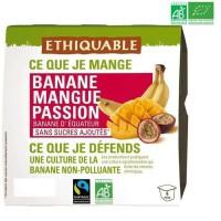 Compotes Banane Mangue Passion bio 400g