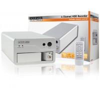 ENREGISTREUR A DISQUE DUR 4 CANAUX AVEC USB ET TELECOMMANDE KÖNIG