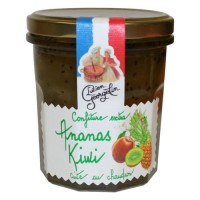 Confiture Extra d'Ananas Kiwis 350g