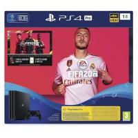 Console PS4 Pro 1To Noire + FIFA 20 Jeu PS4 + PS Plus Voucher 14 Jours