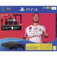 Console PS4 Slim 1To Noire + FIFA 20 Jeu PS4 + PS Plus Voucher 14 Jours