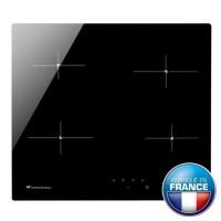 Continental edison CECP104RP2 - Table de cuisson vitrocéramique - 4 zones - 6000 W - L 59 x P 52 cm - Revetement verre - Noir