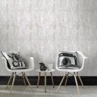 CONTOUR Papier peint support intissé Bellagio vinyle grainé - 1005 x 52 cm - Blanc