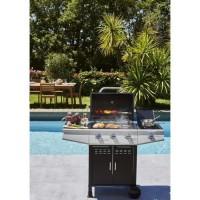 COOKING BOX Barbecue a gaz Paarl - 3 feux +1 latéral - Grilles émaillées - 52 x 34 cm