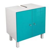 CORAIL Meuble sous lavabo L 60 cm - Bleu lagon brillant