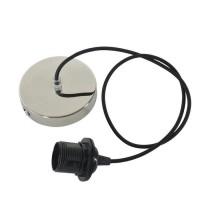 Cordeliere câble textile TRISS E27 60W alu brillant