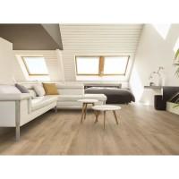 CORETEC 2,66 m2 - 12 Lames vinyles pvc clipsables 122,2 x 18,2 cm chene vieilli. Sous couche liege.