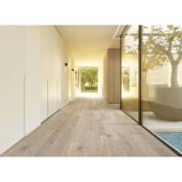 CORETEC 2,66 m2 - 12 Lames vinyles pvc clipsables 122,2 x 18,2 cm chene blanchi. Sous couche liege.