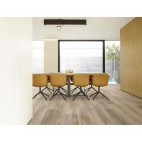 CORETEC 2,66 m2 - 12 Lames vinyles pvc clipsables 122,2 x 18,2 cm chene grisé . Sous couche liege.