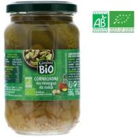 Cornichons au vinaigre de cidre bio - Pasteurisés - 185 g